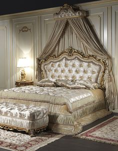13 Beautiful Classic Bedroom Decorating Ideas For Modern House # Source by deko Royal Bedroom, Bedroom Sets, Dream Bedroom, Bedding Sets, Baroque Bedroom, Luxury Bedroom Design, Modern Bedroom, Interior Design, Bedroom Classic