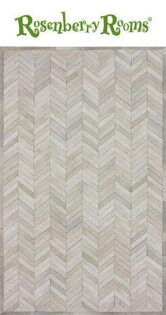 Make a modern, chic and bold statement in your child's room with the Chevron Cowhide Rug in Natural. This contemporary rug feature a unique chevron pattern that is made from 100% cowhide and dyed in a in a fabulous neutral shade!