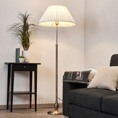 Leilan - Lampadaire en tissu avec LED E27, référence 9620275 - Lampadaires modernes, design ou classiques à découvrir chez Luminaire.fr !