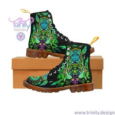 Our boots are vegan friendly and just beautiful 😍💯❤️ Rave Shoes, Floral Combat Boots, Vegan Friendly, Mesh Fabric, Edm, Rubber Rain Boots, Trainers, Casual Outfits, Lace Up