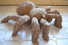 Cardboard Tarantula by Andrew Fitzgerald, via Behance