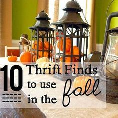 10 Thrift Finds to Use in the Fall!