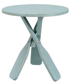 Oar End Table with Beachy Appeal. Now on Sale...  http://www.completely-coastal.com/p/coastal-sale-island.html