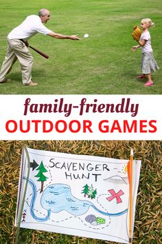 Check out these fun outdoor games! Great for all ages and family-friendly. Outdoor Games For Preschoolers, Outdoor Games To Play, Games To Play Outside, Games To Play With Kids, Free Activities For Kids, Family Outdoor Games, Kid Games, Team Games, Preschool Activities