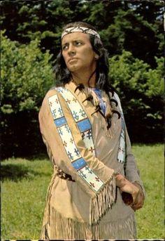 Ak Schauspieler Pierre Bruce, Winnetou II. Teil, Indianer, Karl May - 1637554 | eBay