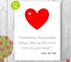 Winnie the Pooh Quote Print  Printable Art  by AppleOrchardPrints, $5.00