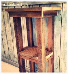 *Shipping is not included in the price, please contact us with the shipping address for accurate shipping rates before purchasing this piece* This rustic side table is made from barn wood. This table