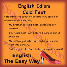 My sister is having ____________ at the airport. 1. cold feet 2. a hard time 3. both #EnglishIdioms