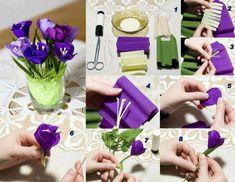 DIY Crepe Paper Flower
