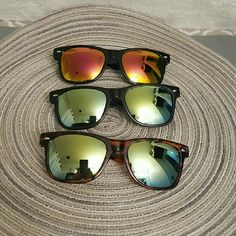 Unisex Mirror Lens Sunglasses Top quality Unisex Mirror lens sunglasses #T-212B  THIS POST IS JUST FOR 1 PAIR YOU YOU WANT MORE THAN ONE .  YOU BUY 2. ( AT FULL PRICE ) AND THE 3RD IS FREE .. ) YOU CAN PICK AND CHOSE FROM DIFFERENT  POST .  ( may not apply for all sunglasses) ask me if any questions. Other