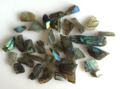 324CT NATURAL LABRADORITE ROUGH SLICE GEMS FLASHY LOOSE LOT RAW MINERAL SPECIMEN #ROUNDSNROSES