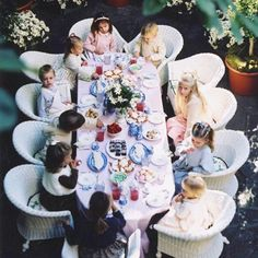 Olympia and Tino's tea party US Vogue 2001 by Arthur Elgort 🌸 #mariechantal