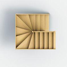 escalier b ton teint gris anthracite 2 4 tournant mur d 39 chiffre pl tr e escala pinte. Black Bedroom Furniture Sets. Home Design Ideas