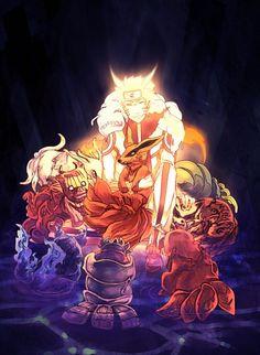 Naruto y Bijuus bebes