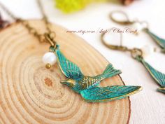 Hey, I found this really awesome Etsy listing at https://www.etsy.com/listing/208089177/blue-bird-necklace-bird-jewelry-flying