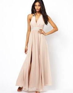 ASOS Maxi Dress With Embellished Waist