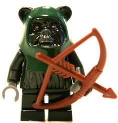 Tokkat Ewok Minifigure with Bow and Arrow
