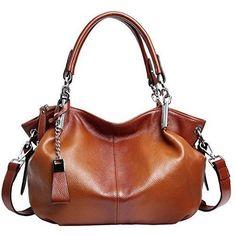 Heshe Womens Leather Handbags Ladies Designer Purse Tote Bag Top Handle Bag Hobo Bag Shoulder Bag Cross Body Bag - Sorrel-r Handbags On Sale, Purses And Handbags, Leather Handbags, Hobo Handbags, Fashion Handbags, Cute Purses For Cheap, Shoulder Handbags, Shoulder Bag, Womens Purses