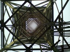 look up on the base of the antenna