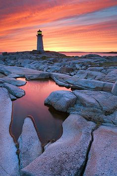 Peggy's Cove Lighthouse, Nova Scotia, Canada by Darwin Wiggett www.facebook.com/loveswish