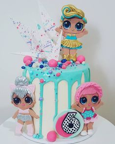 Lol Surprise cake for my youngest babe turning the big 6 today! Thanks again the cake complimented my toppers perfectly! Funny Birthday Cakes, Cupcake Birthday Cake, 6th Birthday Parties, Birthday Cake Girls, 7th Birthday, Birthday Ideas, Lol Doll Cake, Surprise Cake, Surprise Birthday