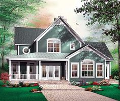 Beautiful classic lines, french country influence, good floor plan, 4 bedrooms. Nice!