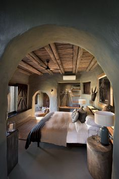 The six luxurious and carefully designed safari lodges of the andBeyond Phinda Private Game Reserve are havens of sophistication and style in the pristine bush surroundings of South Africa's lush Maputaland region. African Interior Design, Home Interior Design, Interior Architecture, African Design, Cob House Interior, Interior Office, Modern Interior, Earthship Home, African House