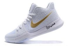 11434e3431a Factory Authentic Nike Kyrie 3 White Metallic Gold Christmas Day Mens  Basketball Shoes For Sale - ishoesdesign