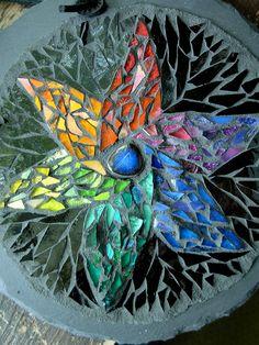 Rainbow Starflower Mosaic Mandala by Nutmeg Designs, via Flickr