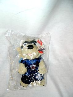 "KFC Tennessee Titans Football Raccoon 8"" plush T Rac Mascot  NEW in PACKAGE  #Coolbeans"
