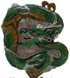 Chinese Dragon Belt Buckle
