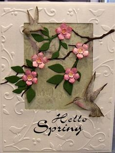 Spring Card by cardmaker13 - Cards and Paper Crafts at Splitcoaststampers like memory box
