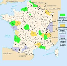 Carte, France, Associations, Correspondants, Médiagora, anxiété, phobieMediagoras