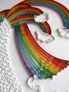 Quilled rainbow