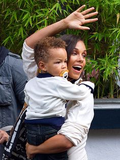 Alicia Keys and son Egypt
