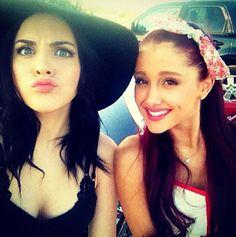 Liz Gillies + Ariana Grande