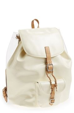 such a cool white summer backpack