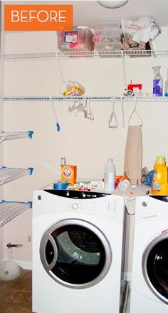 home made laudry link BIG Tiny Laundry Room Makeover