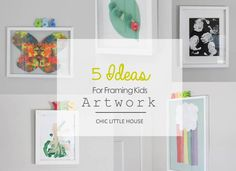 5 Ideas for Framing Kids Artwork. My favorite artwork ever, is the kind my youngest brings home from preschool. I think its important to display kids artwork and crafts but in can be tricky, to make sure its done in a thoughtful manner. Kids artwork can get 'lost' on the fridge among coupons and to do lists and lets be honest in the