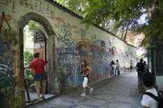 The Lennon Wall, Prague. A once bland but historic wall in Prague underwent a monumental transformation in the 1980s when John Lennon and his music became a paramount symbol of protest by young people against the hardline Communist regime in what was then Czechoslovakia. The wall has been a continual work in progress ever since.