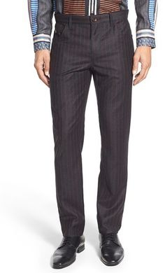 $199, Robert Graham Forth Bridge Pinstripe Wool Pants. Sold by Nordstrom. Click for more info: https://lookastic.com/men/shop_items/399898/redirect
