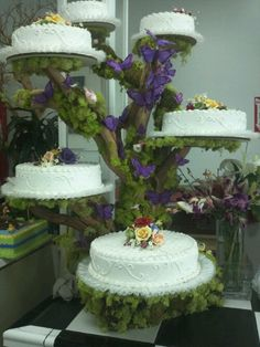 Maybe not for cake, but to display appetizers or desserts