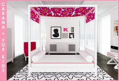 cabana youth room - modern - kids - new york - ducduc Cabana, Black White Rooms, Pink White, Modern Childrens Furniture, Boudoir, House Design Photos, Home Design, Beautiful Interior Design, Kids Decor