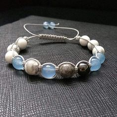Blue Lagoon Shamballa Macrame Strap Bracelet, Gemstone Shamballa Bracelet, Blue Shamballa, Unisex Bracelet Men Women Shamballa Healing Stone by ZenYogastones on Etsy