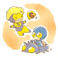 Chibi Booster Gold and Blue Beetle!