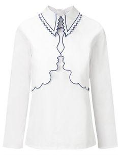 White Face Silhouette Drin Shirt   Vivetta   Avenue32