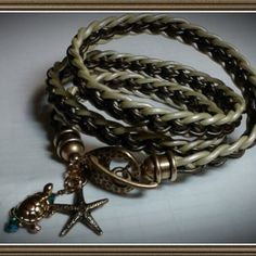 Kumihimo leather braid by anasparklingcreation on Etsy