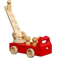 Pure Play Wooden Fire Truck (NEW)