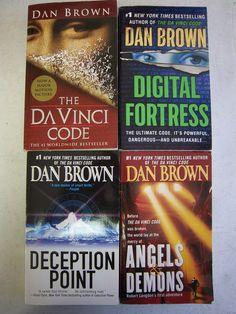 Lot/4 SUSPENSE PB: Dan Brown DIGITAL FORTRESS, The Davinci Code, DECEPTION POINT, Angels and Demons