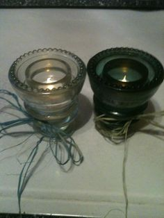 Vintage Insulator Votives by BusyCornerCrafts on Etsy, $15.00